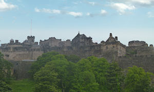Edinburgh Castle from Princes Street Gardens below